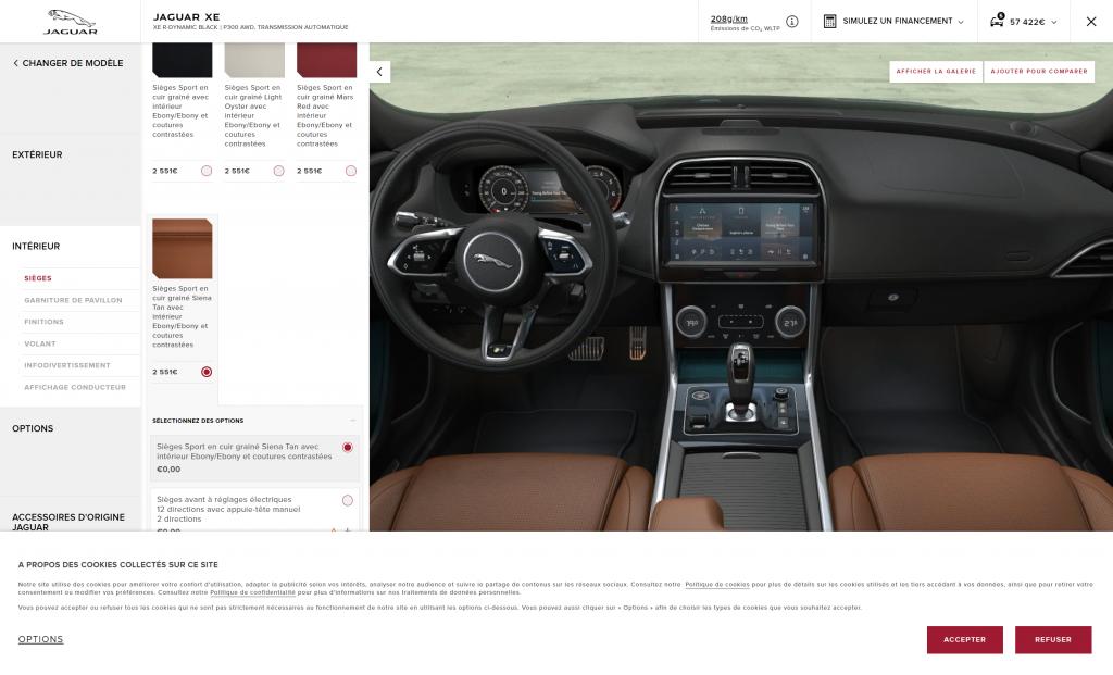 Du CLM au configurateur Jaguar